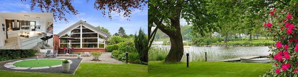 Villa direkte til Haderslev Dam - egen bådebro og ekslusiv sejlret