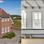 Nr. Aaby gamle banegård med tilhørende pakhusbygning - smuk gammel fredet ejendom