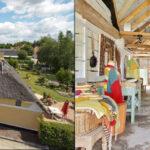 Gård i landsby med værksted og galleri