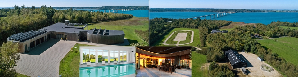 Strand, hestehold, jagt, panorama, luksusvilla